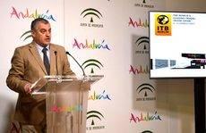 Carnero durante la presentación de la promoción de Andalucía en la ITB.