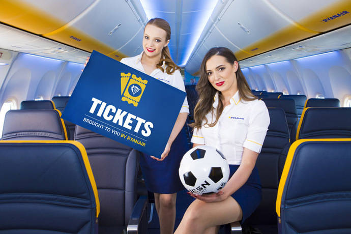 Ryanair venderá entradas a eventos deportivos
