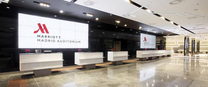 Madrid Marriott Auditorium instala Hotel TVs