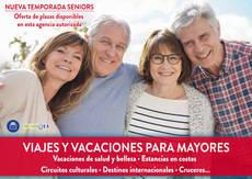 Viajes y vacaciones para mayores en las agencias de Gea