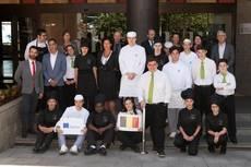 Alumnos Erasmus+ en el Hotel Escuela Santa Cruz (Santa Cruz de Tenerife).