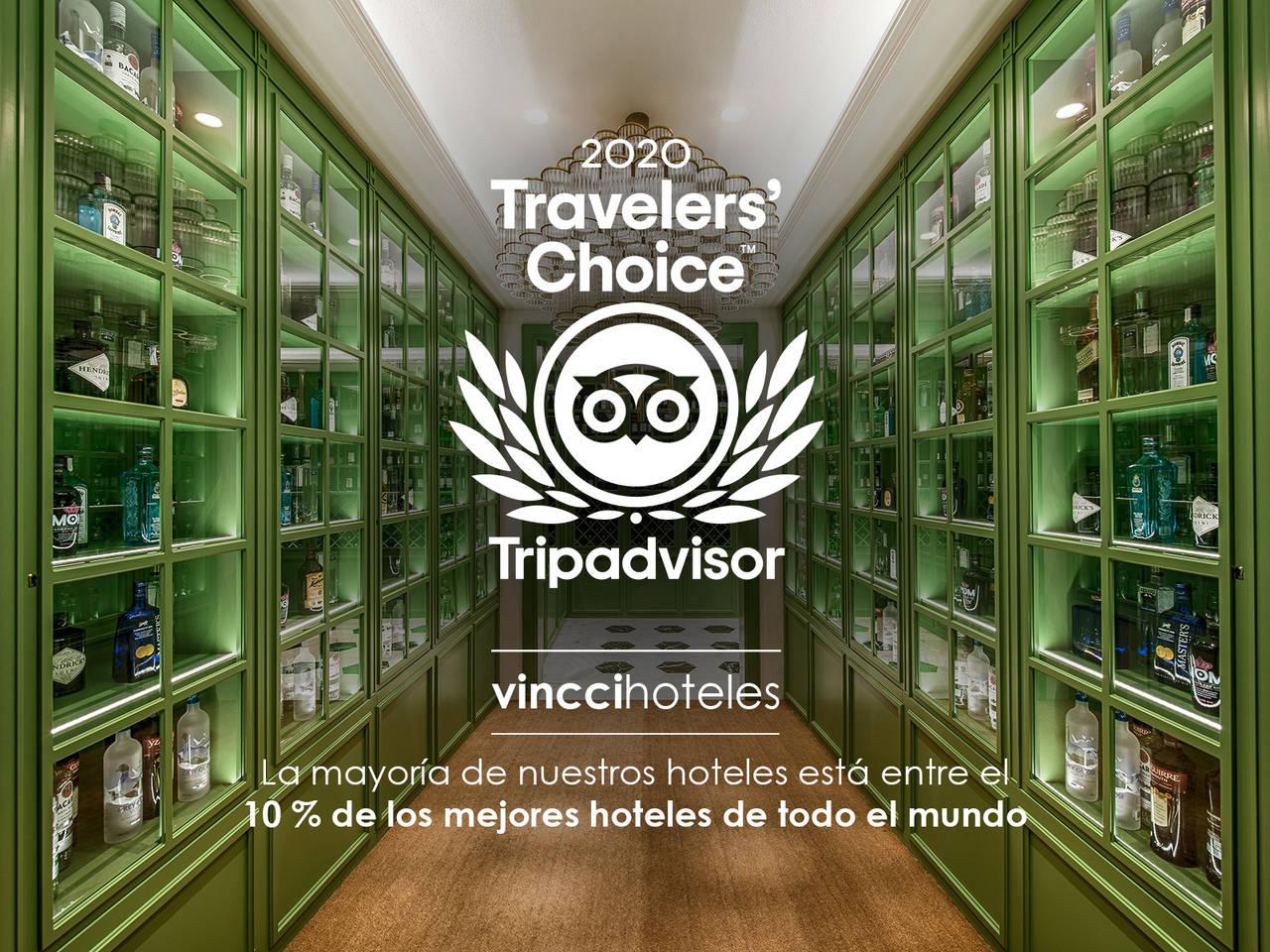 Vincci obtiene el Travelers' Choice en casi todos sus establecimientos