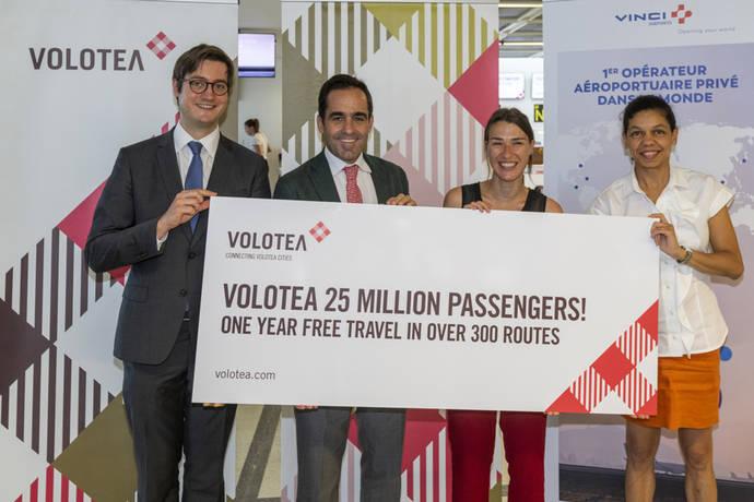 Volotea rebasa la cifra de 25 millones de pasajeros