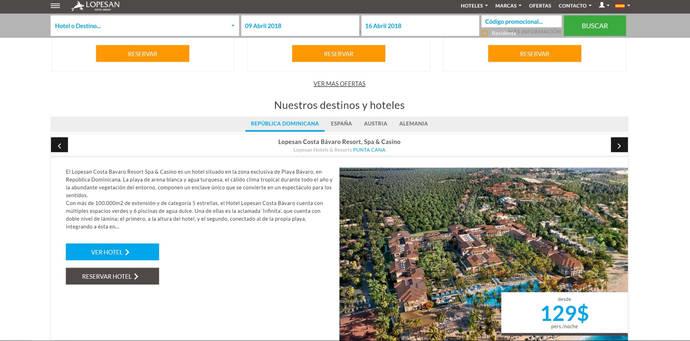 Nueva 'web' de Lopesan para mejorar la experiencia del cliente