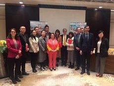 Zaragoza Congresos durante su encuentro con los turoperadores de Shangái.