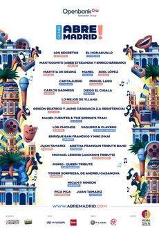 Cartel de artistas de Abre Madrid.