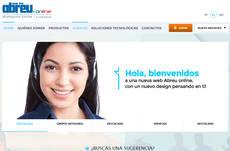 La web está en español, portugués e inglés.