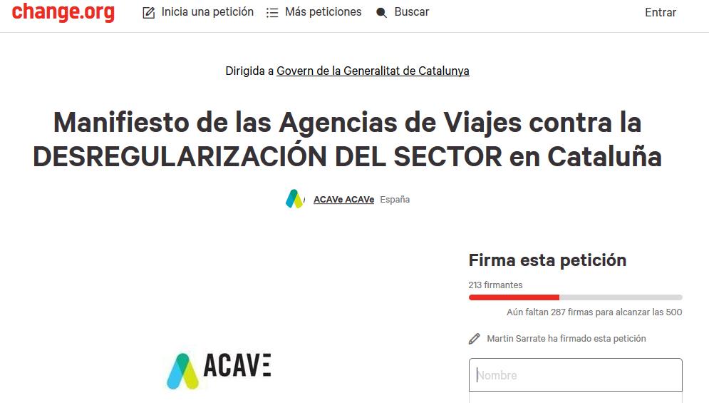 ACAVE recoge firmas contra la desregulación