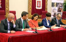 Isabel Borrego, durante la presentación del acuerdo en su visita a Yecla.