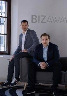 Los fundadores de BizAway, Luca Carlucci y Flavio Del Bianco.