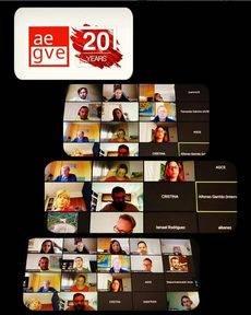 La reunión online de AEGVE.
