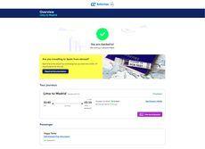 Air Europa integra la verificación sanitaria de Amadeus