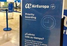 Air Europa amplía su servicio Priority Boarding