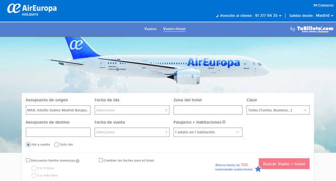 Globalia lanza la marca Air Europa Holidays