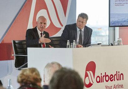 Airberlin pasa de ganar 56 millones a perder 45 millones