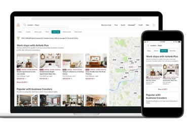Airbnb mejora la búsqueda para los viajes de negocio