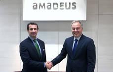 El presidente de Segittur y el director general de Amadeus España.
