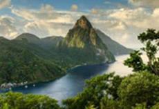 Soufrière, Santa Lucía, Pequeñas Antillas.
