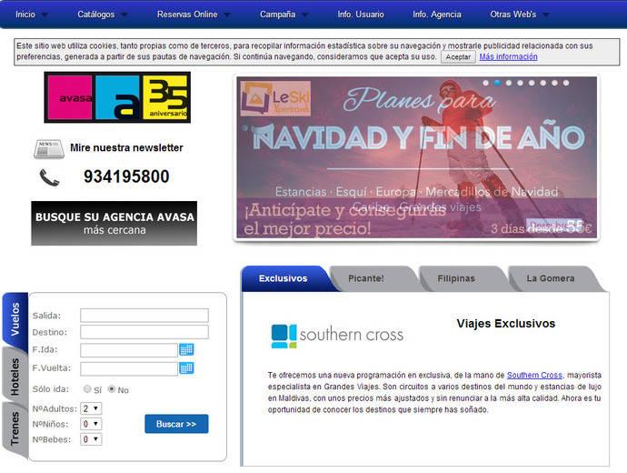 Avasa estrena nuevos 'portales' y renueva su buscador