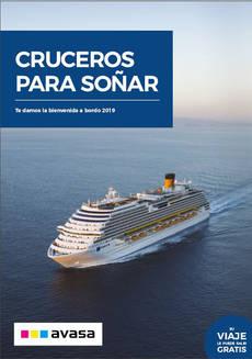Avasa lanza su 'Catálogo de Cruceros 2019'