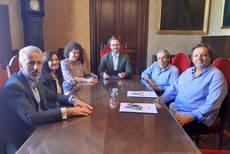 Xisco Mulet y Pedro Iriondo se han reunido con el alcalde de Palma.