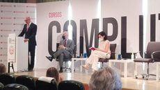 El presidente del Consejo Social de la UCM, Jesús Nuño de la Rosa, durante su intervención.