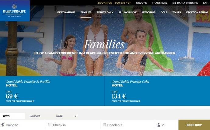 Bahía Príncipe y Barceló Hotels venden 'paquetes'