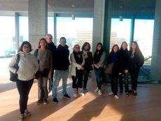 Los agentes de viaje franceses en su visita al Palacio de Congresos de Palma.