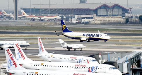 El modelo 'low cost' domina en muchos aeropuertos