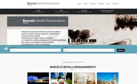 El Barceló Sevilla Renacimiento estrena nueva 'web'