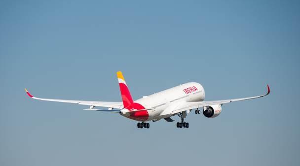 Despega en Madrid el primer Airbus A350 de Iberia