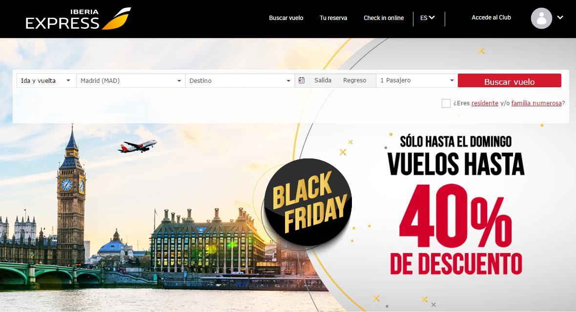 Las empresas turísticas se vuelcan con el Black Friday