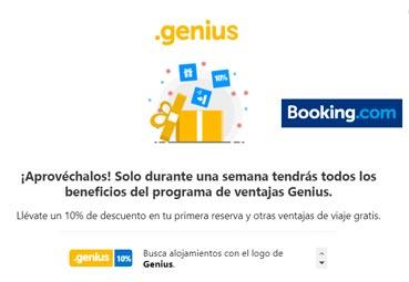 Booking.com lanza Semana Genius con grandes descuentos