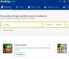 Booking, la plataforma preferida por los españoles