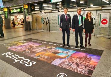 Burgos realiza una campaña en los trenes de Madrid