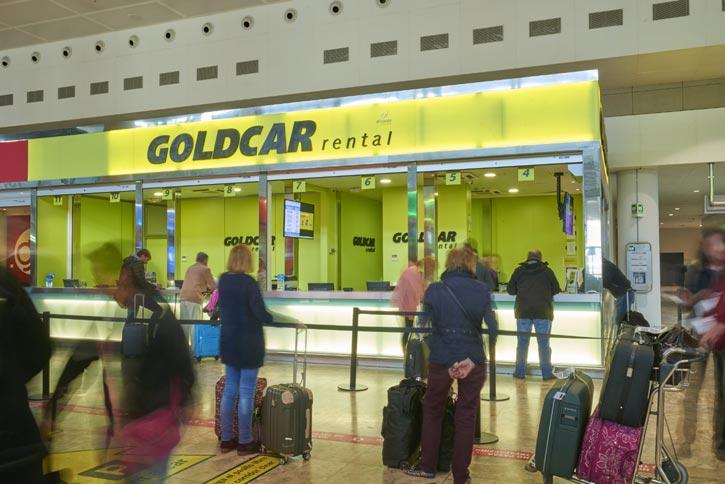 Goldcar operar en cinco aeropuertos de la red de aena for Oficinas aena madrid