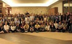 Algunos de los asistentes a la convención de Azul Marino en Bilbao.