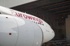 Uno de los Airbus A320 de Air Berlin que opera la filial de Lufthansa.