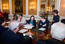 El Consejo Rector y la Junta General del Patronato se han reunido esta semana en el Palacio Provincial. (Foto: Rocío Hernández)