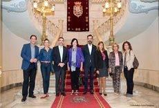 La visita de las asociaciones médico-sanitarias a Cartagena.