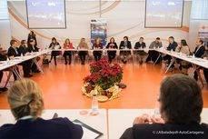 Reunión de la alcaldesa de Cartagena con los socios de la Oficina de Congresos.