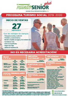 Programa de Mundosenior Plus.