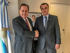 Rafael Gallego con el ministro de Turismo de Argentina, Gustavo Santos.
