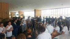 La celebración del Meliá Palma Bay con el director general del complejo, Ramón Vidal.