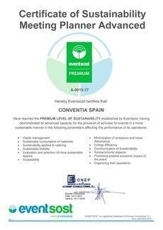Conventia Spain es certificada en sostenibilidad
