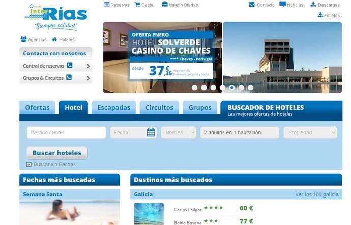 Viajes InterRías presenta hoy su nueva página 'web'