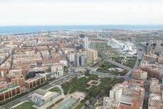 Panorámica de la ciudad de Valencia.