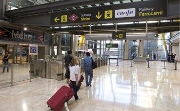 Conectividad en los aeropuertos de Madrid y Barcelona