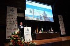 La intervención de Juan Molas durante el Congreso de hoteleros Españoles.
