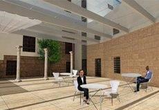 Uno de los espacios (imagen virtual) que forman parte de la segunda fase de las obras del Palacio de Congresos de Córdoba.